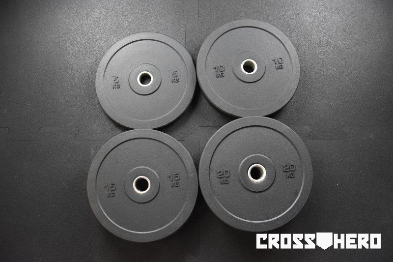 bumper crossfit zestaw bumperów obciążenia bumperowe 5 10 15 20 kg crosshero