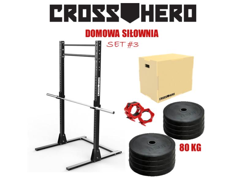 Bardzo dobra ZESTAW SPRZĘTU do domowej siłowni | CrossHero KN42