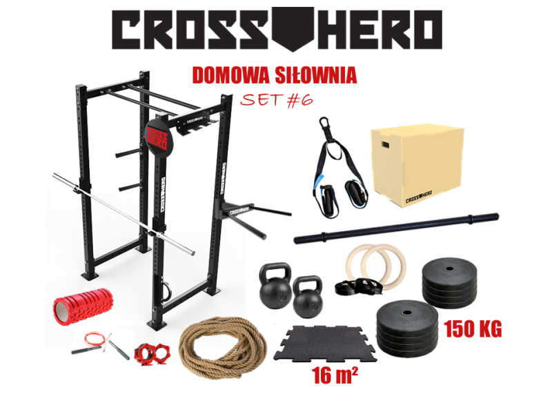 W Mega ZESTAW DOMOWA SILOWNIA SET #6 - CrossHero IU91